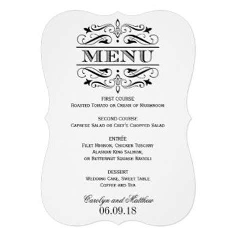 formal menu template menu cards wedding dinner menu and wedding menu cards on