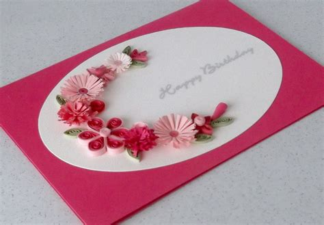 How To Make Greeting Cards With Paper - quilled birthday card handmade greeting paper quilling