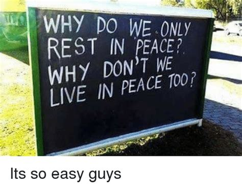 eat in peace to live in peace your handbook for vitality books why do we rest in peace why dont me live in peace its