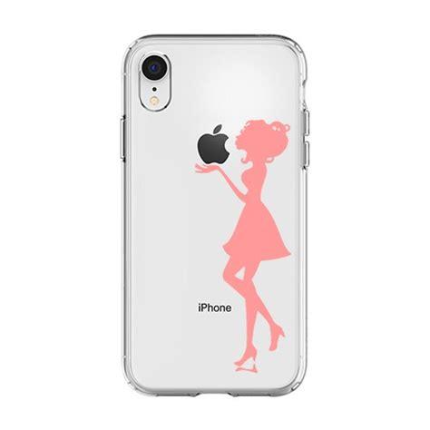 silikonowe etui z nadrukiem na iphone xr kobieta kolor r 243 żowy etui na iphone