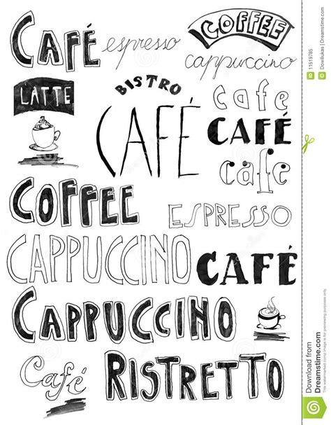 free doodle words coffee doodle royalty free stock photo image 11519785