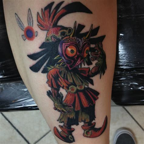 skull kid tattoo gallery for gt majoras mask sleeve