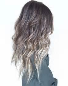 ash blonde brown balayage hair ash blonde balayage on dark brown hair