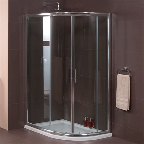 Bathroom Shower Cubicle Aquafloe 6mm 1200 X 800 Offset Sliding Door Quadrant Enclosure