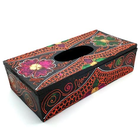 Tempat Tisu Minuman Motif Gold jual kotak tisu kayu tempat tissue kayu glitter motif
