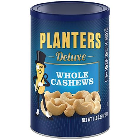 Planters Cashew by Planters Deluxe Whole Cashew Nuts 1 Lb 2 25 Oz Grocery