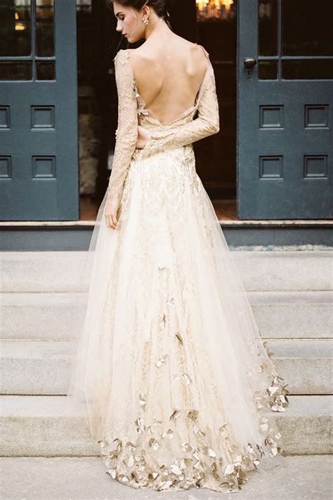 Gold Wedding Dresses by Stunning White Gold Wedding Gown A Step Toward