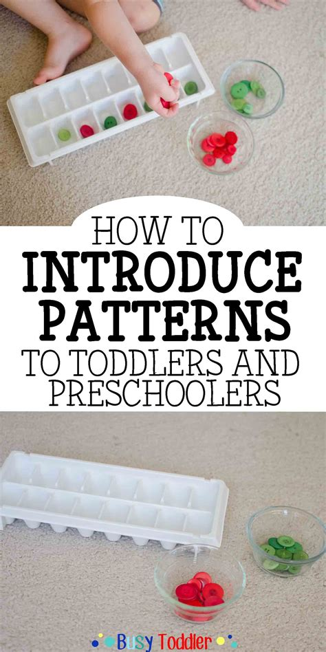 pattern making activities for preschool introducing patterns to toddlers preschoolers busy toddler