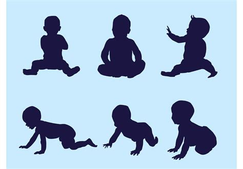 vector baby silhouettes download free vector art stock