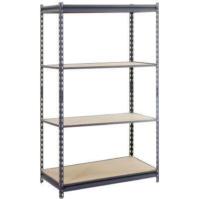 basement shelving units edsal 60 in h x 36 in w x 18 in d 4 shelf steel