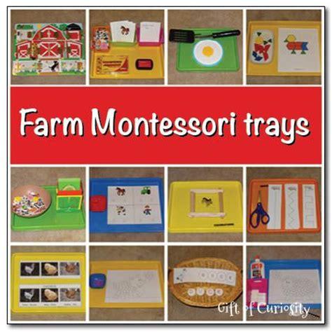 Farm Theme Home Preschool Lesson Montessori Trays Montessori And Trays On