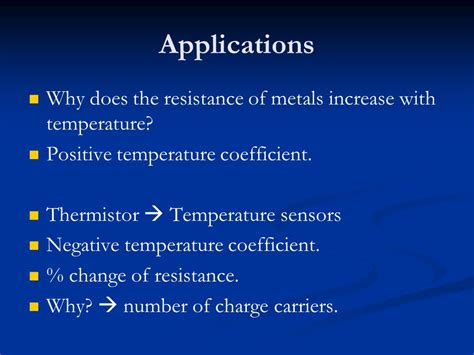do resistors a positive temperature coefficient iv characteristics electricity lesson ppt