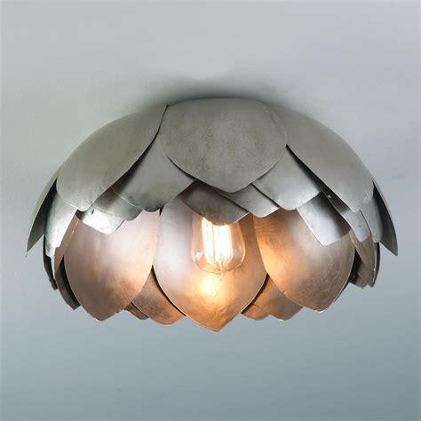 lotus flower ceiling light metal lotus flush mount ceiling light for my living room