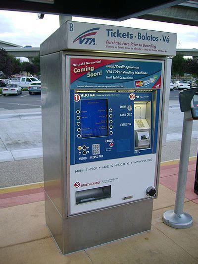 light rail ticket vta light rail ticket machine transit wiki