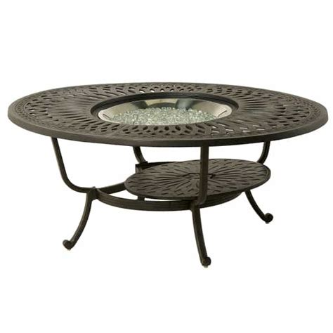 patio furniture with gas pit table berkshire 48 quot gas pit table