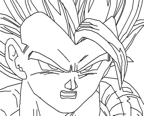 dragon ball z gogeta coloring pages gogeta 1 colouring pages page 2