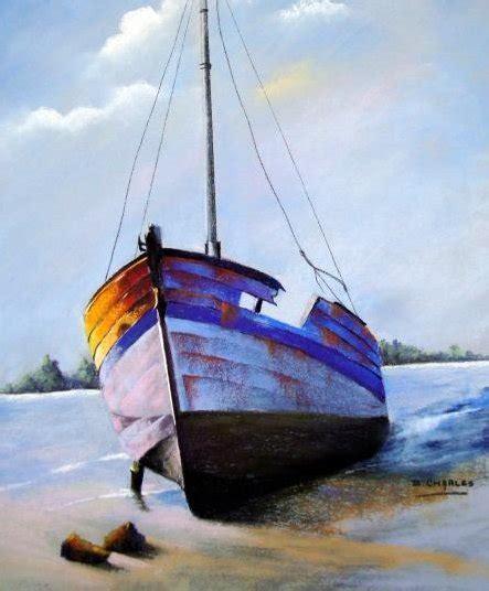 boat crashing drawing artists in pastel brigitte charles