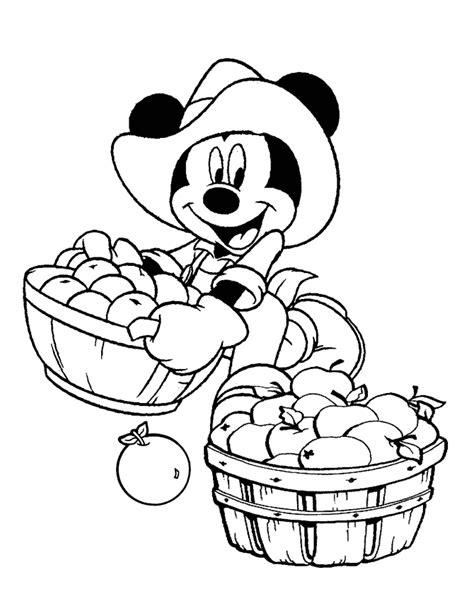 apple harvest coloring pages harvest time mickey coloring page h m coloring pages