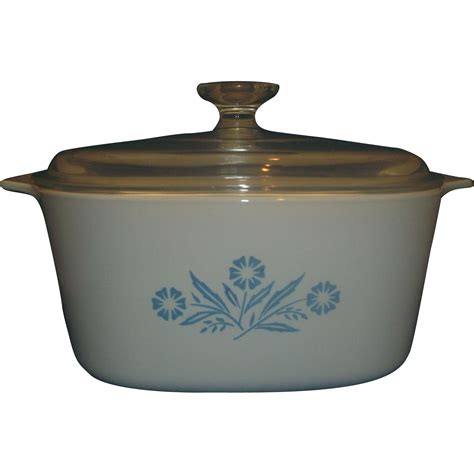 Pyrex Casserole With Lid 1 4 L corning cornflower 3 liter casserole pyrex lid from