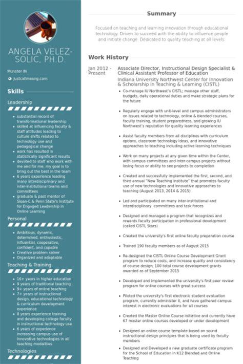 resume templates for assistant professor professeur exemple de cv base de donn 233 es des cv de visualcv