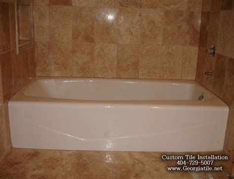 Bathtub Tiling Ideas by Tub Shower Travertine Shower Ideas Pictures