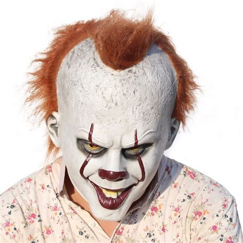 It Pennywise Clown Mask Costume stephen king s it mask pennywise clown