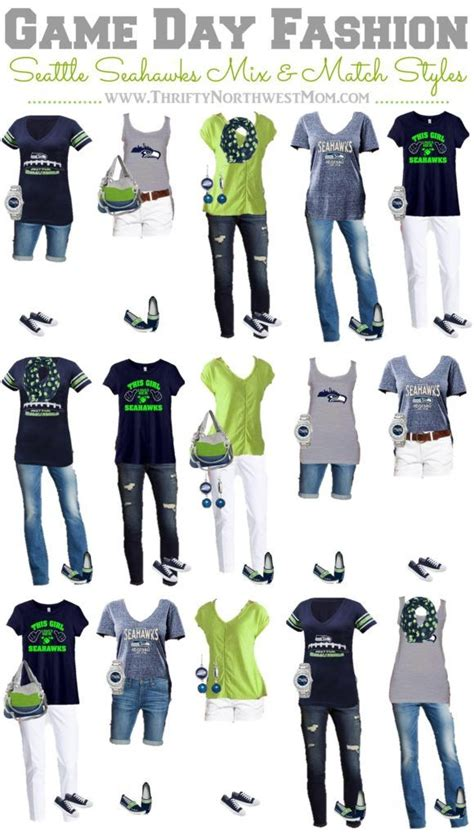 seattle seahawks clothing  women  mix match