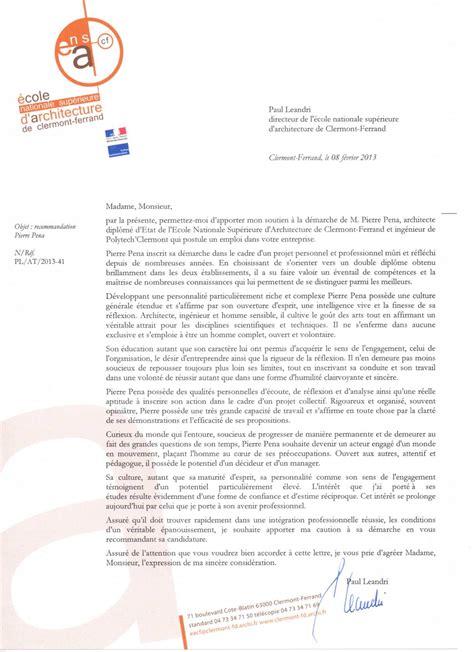 Lettre De Recommandation Ecole Alsacienne Calam 233 O Lettre De Recommandation Paul L 233 Andri Directeur De L 233 Cole Nationale D Architecture