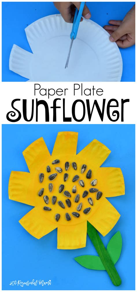 Paper Plate Craft Work - paper plate sunflower craft the resourceful