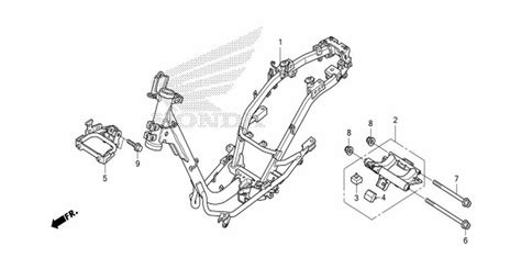 Sparepart Honda Scoopy moto th honda scoopy i 2013 parts frame chassis
