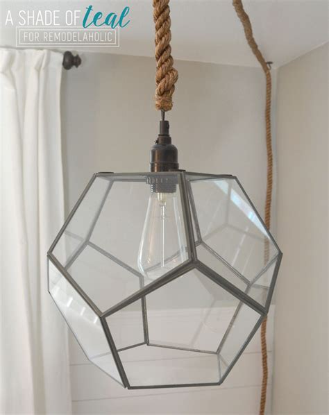 Diy L Shade Remodelaholic Terrarium To Geometric Pendant Light