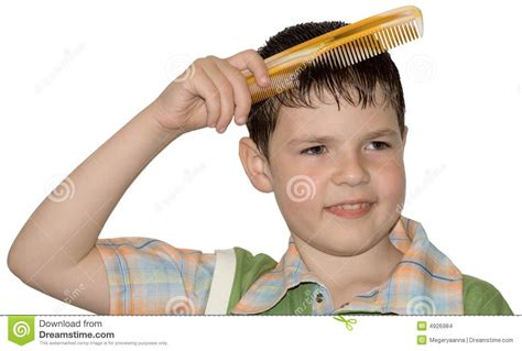how to comb a boys hair the boy hair combs hygiene stock images image 4926984