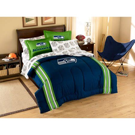 Seahawks Bed Set by Nfl Applique Bedding Comforter Set With Sheets Seahawks