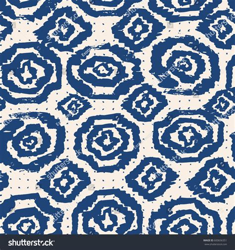 Vector Tie Dye Seamless Pattern Hand Stock Vector | vector tie dye seamless pattern hand stock vector