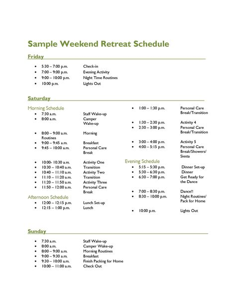 search results for excel template weekly schedule page 2