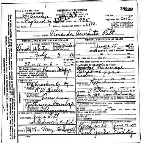 Kentucky Birth Record Kentucky Vital Records Learn Familysearch Org Genealogy