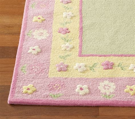 Pottery Barn Floral Rug by Yellow Floral Border Rug Swatch Pottery Barn