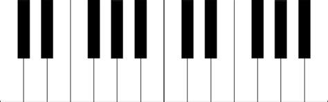piano keyboard clipart black  white clipart panda