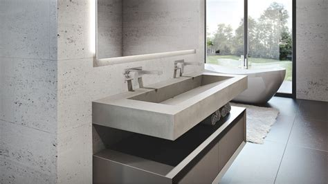 how to make a concrete sink for bathroom trueform concrete 60 ada floating concrete sink in a