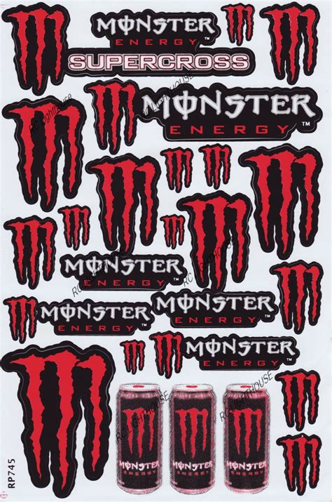 Monster Jam Aufkleber by Monster Energy Drink Sticker Sheet D 110 Rc Lighthouse