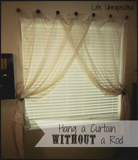 diy curtains without rods life unexpected how to hang a curtain without a rod it s