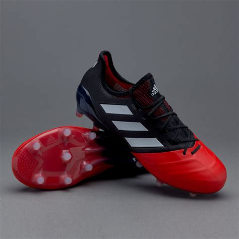 sepatu bola adidas ace 17 1 leather fg black white