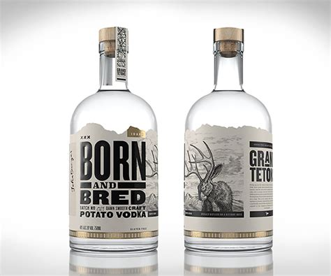 design vodka label born bred vodka label illustrations by steven noble on