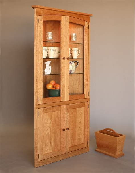 Corner Cabinate by Simply Beautiful Corner Cabinet Hardwood Artisans