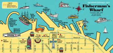 san francisco map fishermans wharf map of fisherman s wharf san francisco