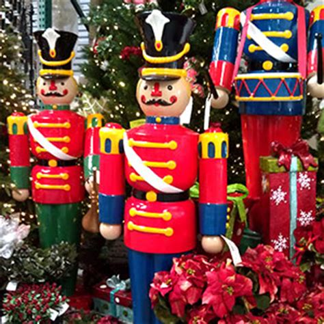 large outdoor nutcracker soldiers designer events lighting solutions commercial decorations commercial
