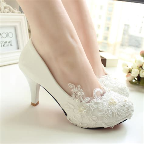Handmade Wedding Shoes - handmade lace wedding shoes white bridal shoes bridesmaid