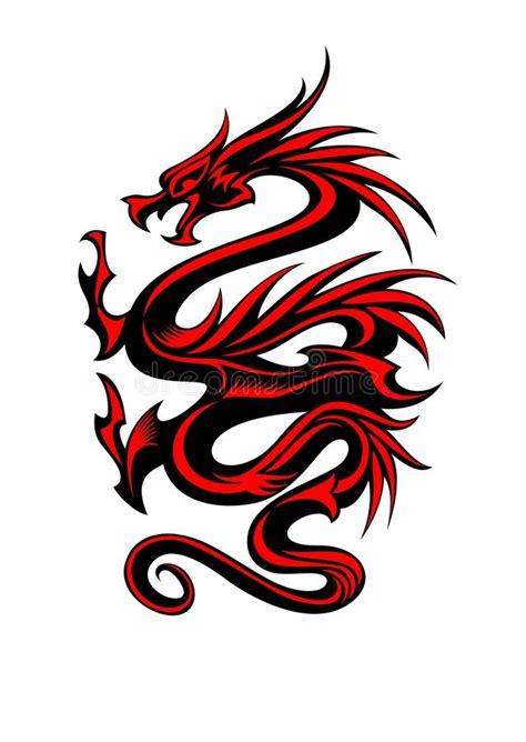 tribal tattoo dragon vector illustration tribal dragon tattoo stock vector illustration of fantasy