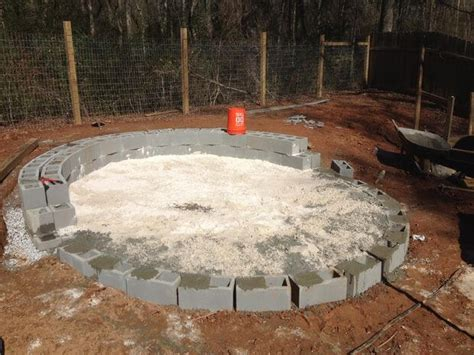 half circle pit how to build a pit with circular wrap around veneer patio