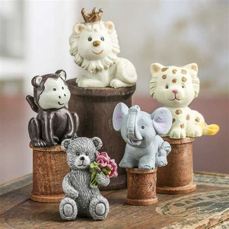 small animal figurines for crafts miniature animal figurine nursery miniatures dollhouse miniatures doll supplies